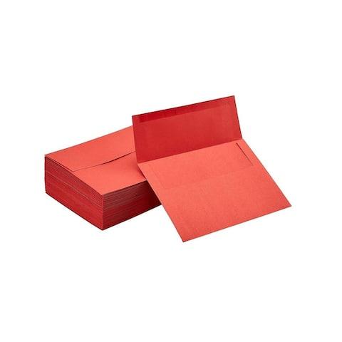 100-Pack Red Invitation Envelopes A7 5 x 7 Gummed Seal Flap Invite Envelope