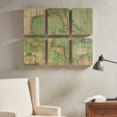 Martha Stewart Atlas Set Multi Plywood Veneer Box 6 Piece Set