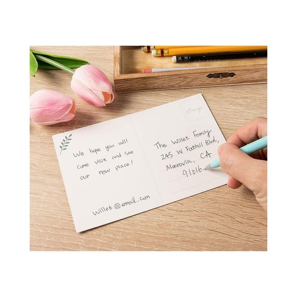 Change of Address Pack of 25 Blank 4x6 Inch Post Cards Moving Announcement Postcard Weve Moved Cards