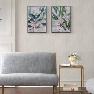 Martha Stewart Eucalyptus Simplicity Set Multi Framed Canvas 2 Piece Set