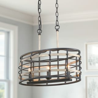 Link to Carbon Loft Ghaffari Farmhouse Kitchen Lighting Cage Island Chandelier Lights (As Is Item) Similar Items in As Is