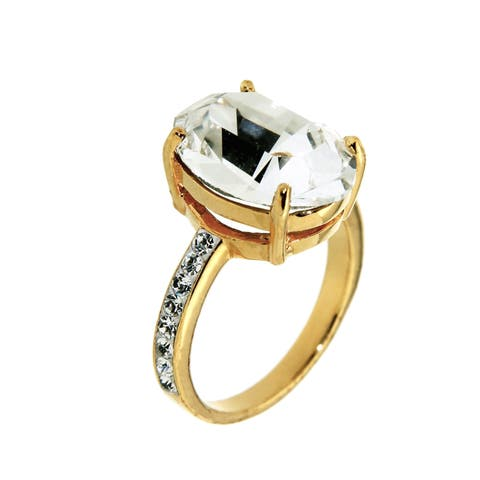 Forever Last Sterling Silver Gold Plated CZ Ring