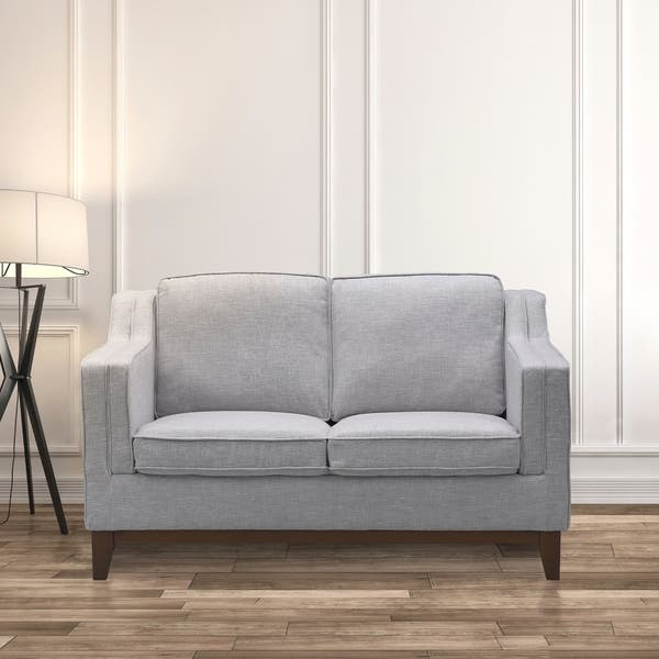 Wondrous Shop Kramer Modern Loveseat In Walnut Finish With Light Gray Gmtry Best Dining Table And Chair Ideas Images Gmtryco