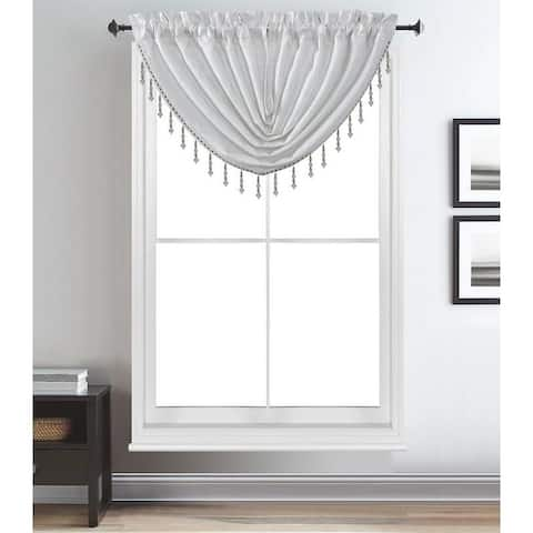 Gracewood Hollow Brahmabhatt Rod Pocket Window Waterfall Valance