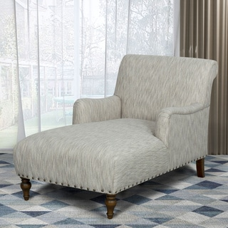 HomePop Chaise Lounge - Textured Cream