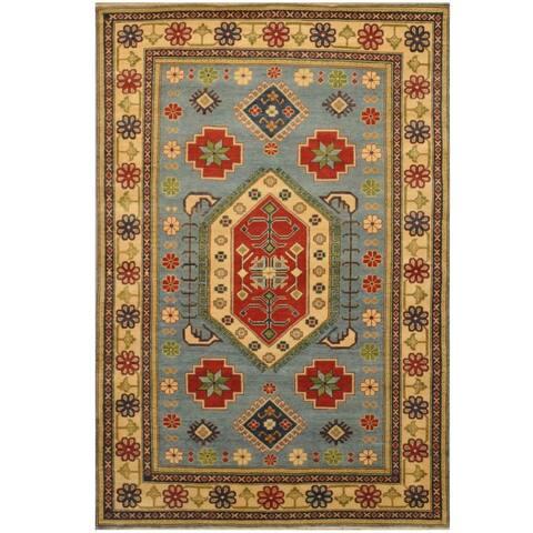 Handmade One-of-a-Kind Kazak Wool Rug (Afghanistan) - 6' x 8'8