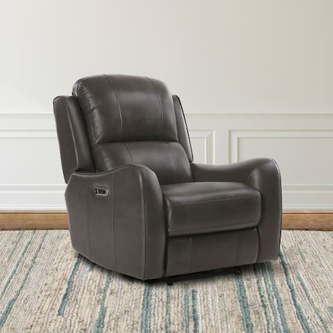 Buy Tan Leather Power Recline Recliner Chairs Amp Rocking