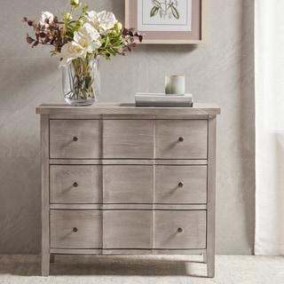 Martha Stewart Reba Reclaimed Biscuit 3 Drawer Accent Chest