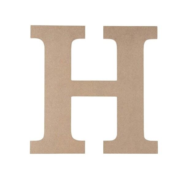 Wooden Greek Letter - DIY Paintable Unfinished Wood Letter Greek Font H for ETA