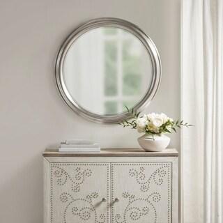 Martha Stewart Spruce Silver Round Accent Mirror