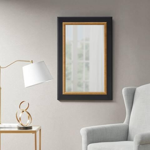 Martha Stewart Emmerson Black/Gold Rectangle Accent Mirror