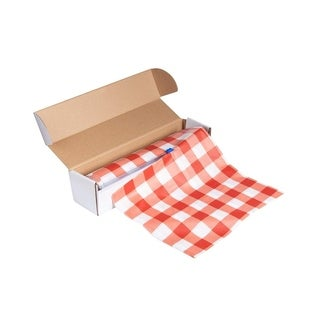 """54"""" x 98 Feet Plastic Banquet Party Table Cover Roll Disposable Tablecloths Red"""