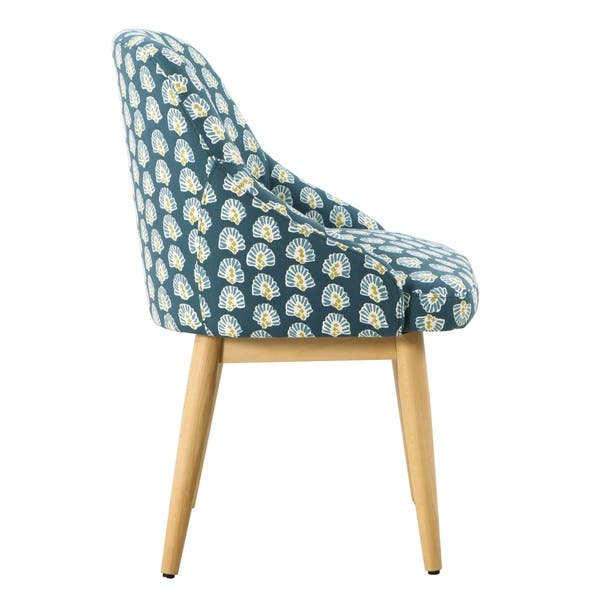 Fantastic Shop Homepop Riley Accent Chair Turquoise Floral On Sale Theyellowbook Wood Chair Design Ideas Theyellowbookinfo