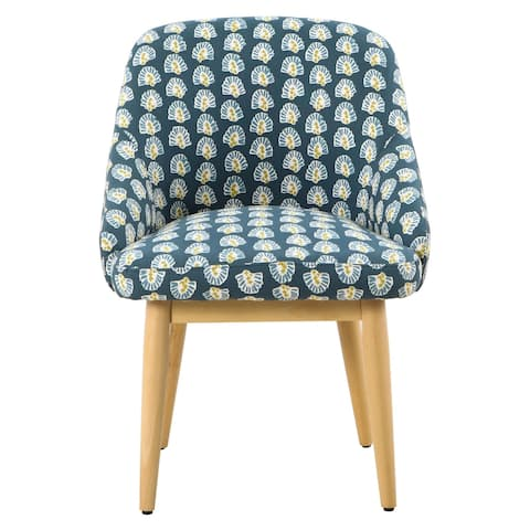 HomePop Riley Dining Accent Chair - Turquoise Floral