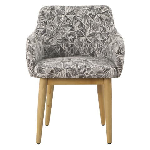 HomePop Milo Dining Accent Chair - Gray Lines