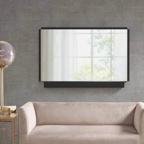 Martha Stewart Bento Black Rectangle Accent Mirror
