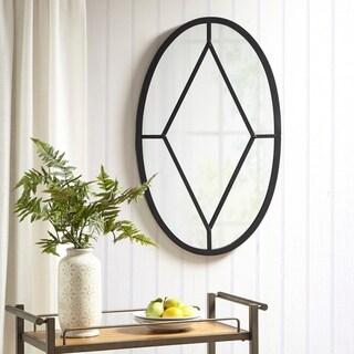 Martha Stewart Cantitoe Black Oval Accent Mirror