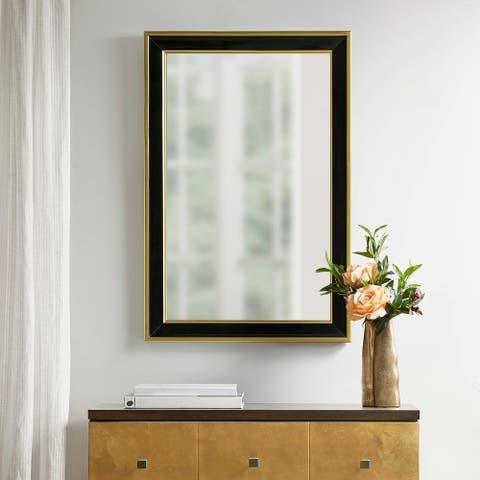 Martha Stewart Hudson Black/Gold Rectangle Accent Mirror