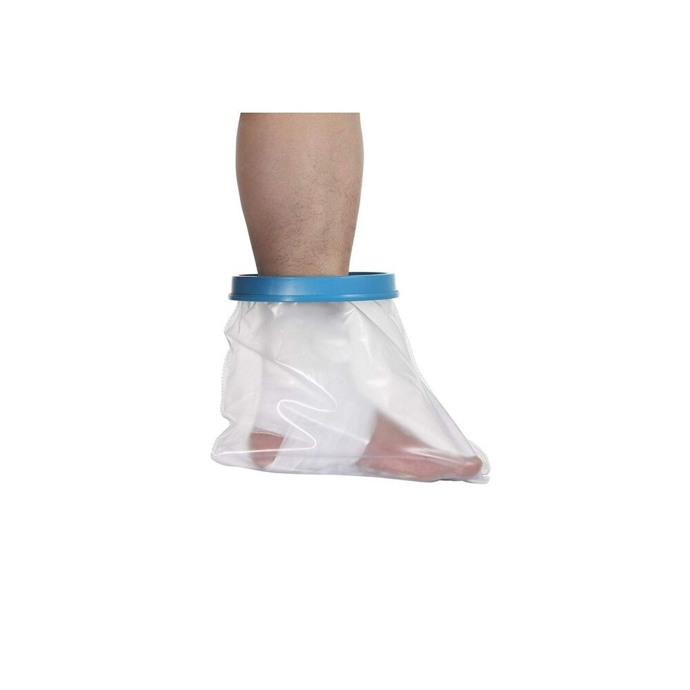 Reusable Foot Cast Cover Waterproof Protector Bandage Injury Wound Leg Shower - Clear