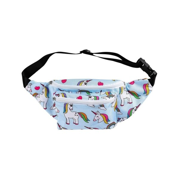 f9c26df789d9 Shop Women Fanny Pack Unicorn Festival Outdoor Travel Bum Bag ...