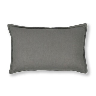 Thread and Weave Charleston Solid Grey Boudoir Pillow