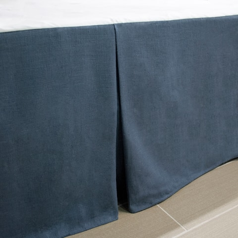 Thread and Weave Magnolia Blue Bedskirt