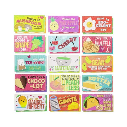 60-Pack Kids Motivational Lunch Box Note Cards Riddles Jokes Puns Puzzle Game