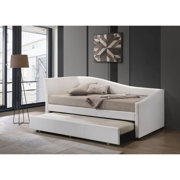 ACME Jedda Daybed & Trundle (Twin Size) in White PU. Opens flyout.
