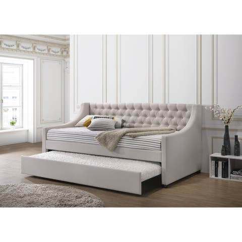 ACME Lianna Daybed & Trundle (Twin Size) in Fog Fabric