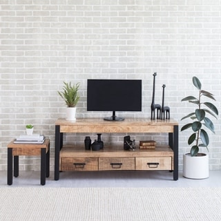 Antonia Handmade Mango Wood Cabinet - n/a