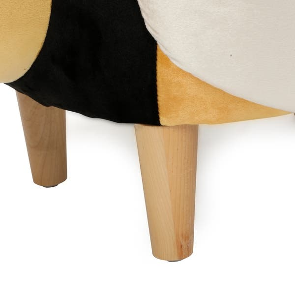Terrific Shop Jerome Velvet Bumble Bee Ottoman By Christopher Knight Squirreltailoven Fun Painted Chair Ideas Images Squirreltailovenorg