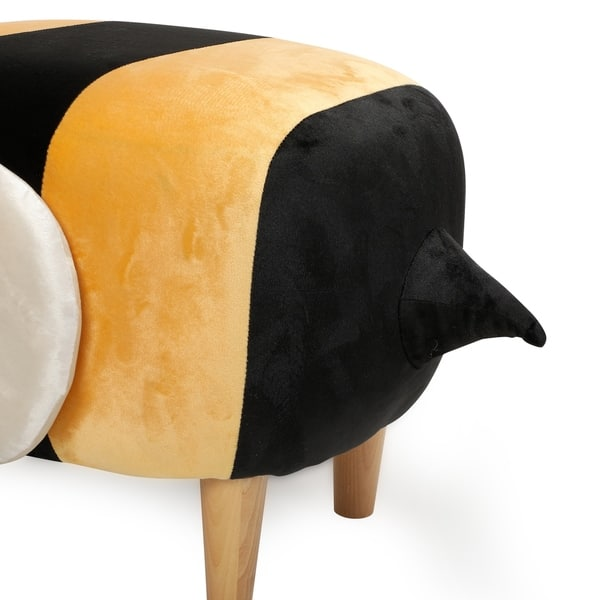 Marvelous Shop Jerome Velvet Bumble Bee Ottoman By Christopher Knight Squirreltailoven Fun Painted Chair Ideas Images Squirreltailovenorg