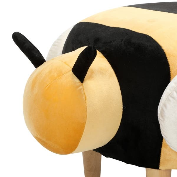 Pleasant Shop Jerome Velvet Bumble Bee Ottoman By Christopher Knight Squirreltailoven Fun Painted Chair Ideas Images Squirreltailovenorg