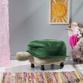 Sheldon Velvet Turtle Ottoman by Christopher Knight Home