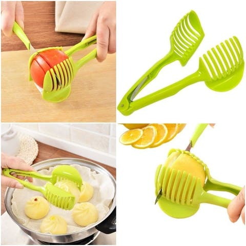 Emson® Multi-Functional Handheld Round Fruit Slicer - WHITE