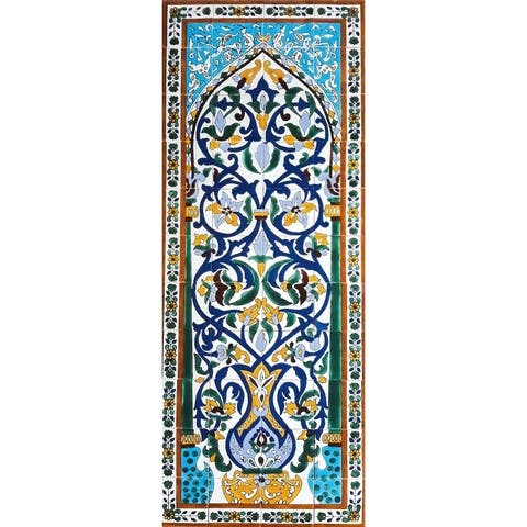 Floral Vase Ceramic 44 Tiles Mosaic Wall Mural Panel
