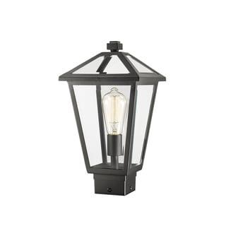 Link to Talbot 1 Light Outdoor Post Mount Fixture in Black Similar Items in Pier Mount Lights