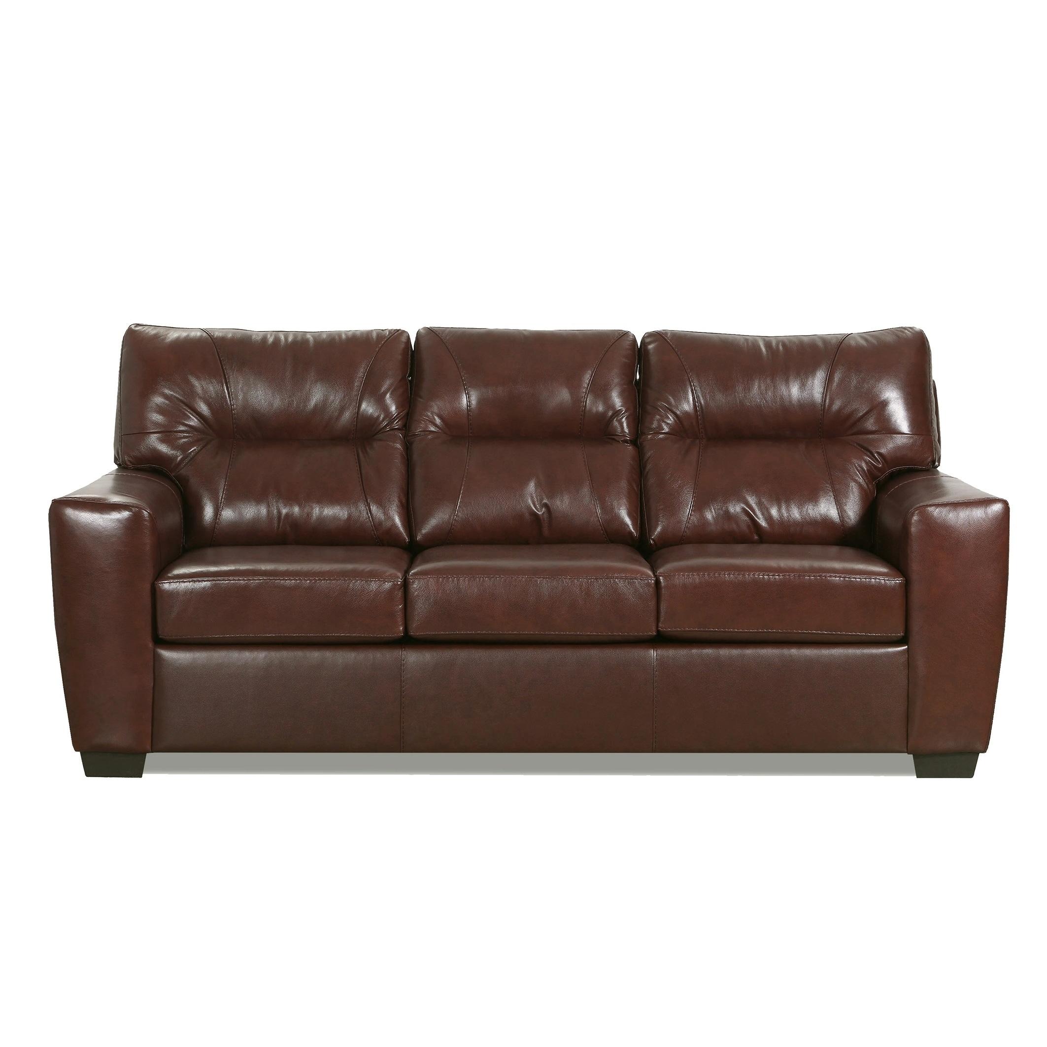 Shop Black Friday Deals On Garnet Top Grain Leather Queen Sofa Sleeper Overstock 28677158 Crimson