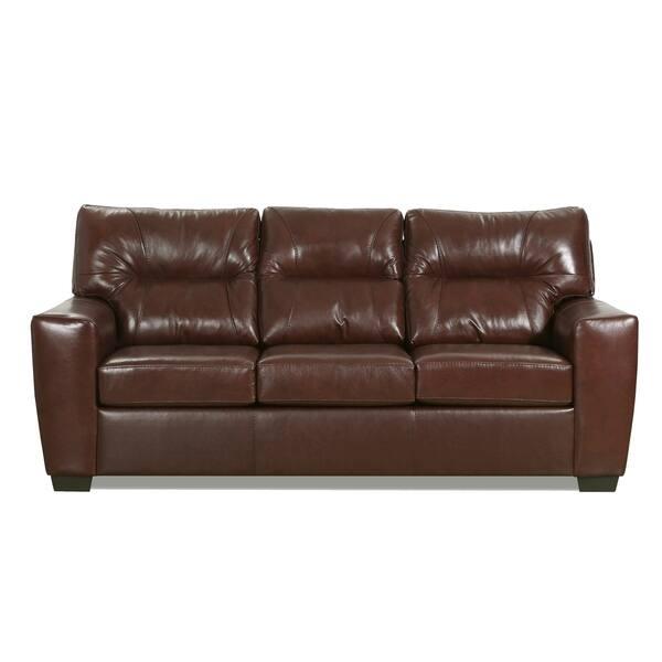 Garnet Top Grain Leather Queen Sofa Sleeper