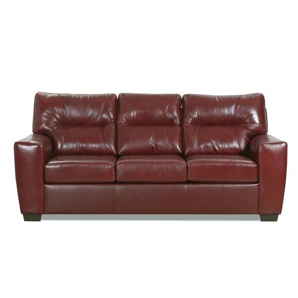 Garnet Top Grain Leather Queen Sofa Sleeper. Opens flyout.