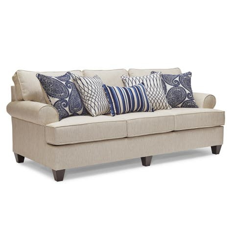 Stanley Fabric Sofa with Toss Pillows