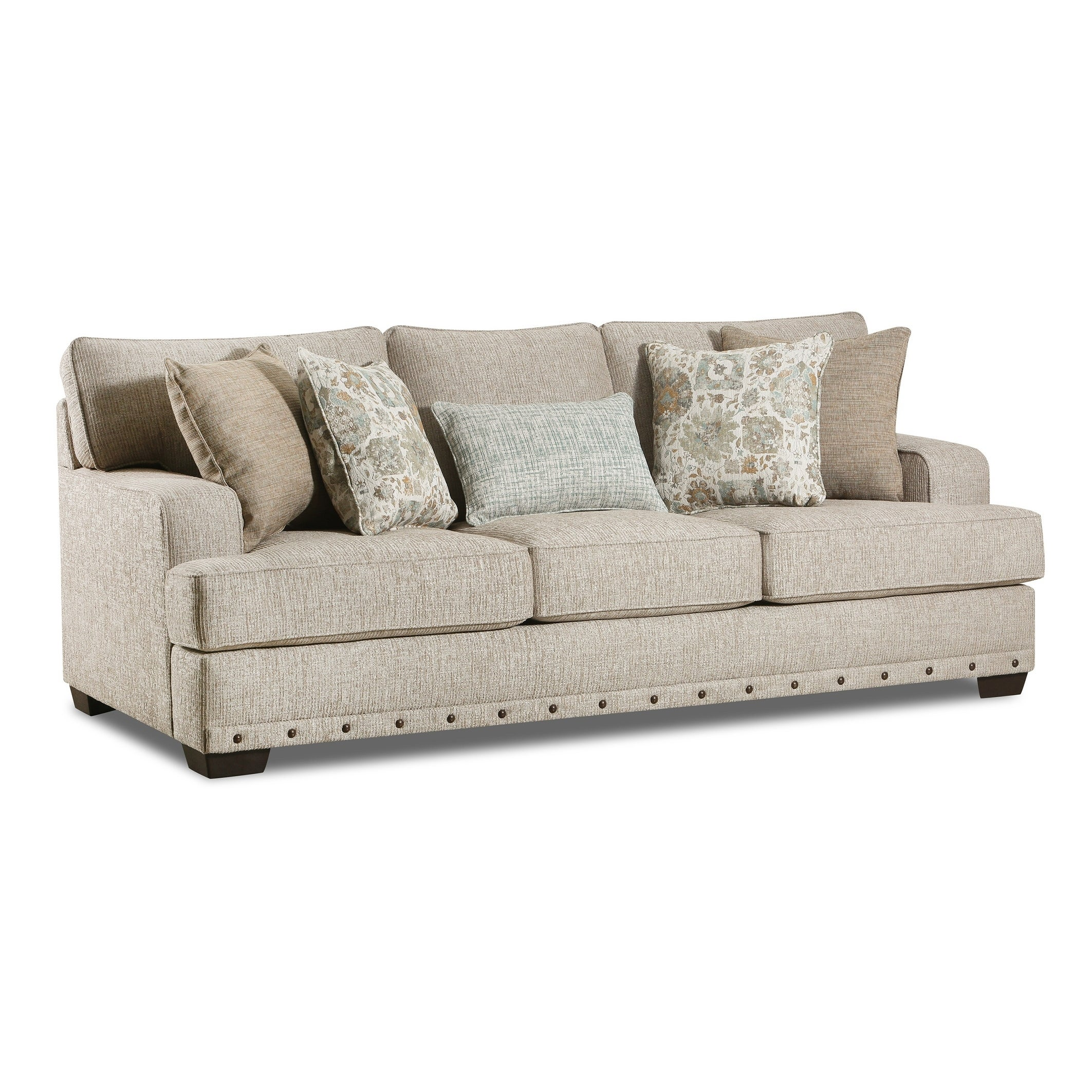 - Shop Ammon Fabric Queen Sofa Sleeper With Toss Pillows - On Sale