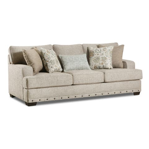 Ammon Fabric Sofa with Toss Pillows