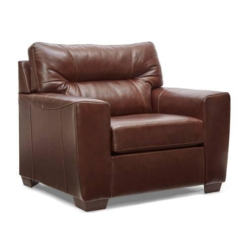 Garnet Top Grain Leather Chair