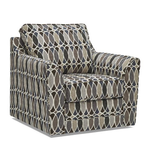 Geyser Swivel Multi Color Fabric Accent Chair