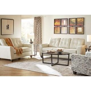 Copper Grove Aldosa Top-grain Leather Sofa and Loveseat Set