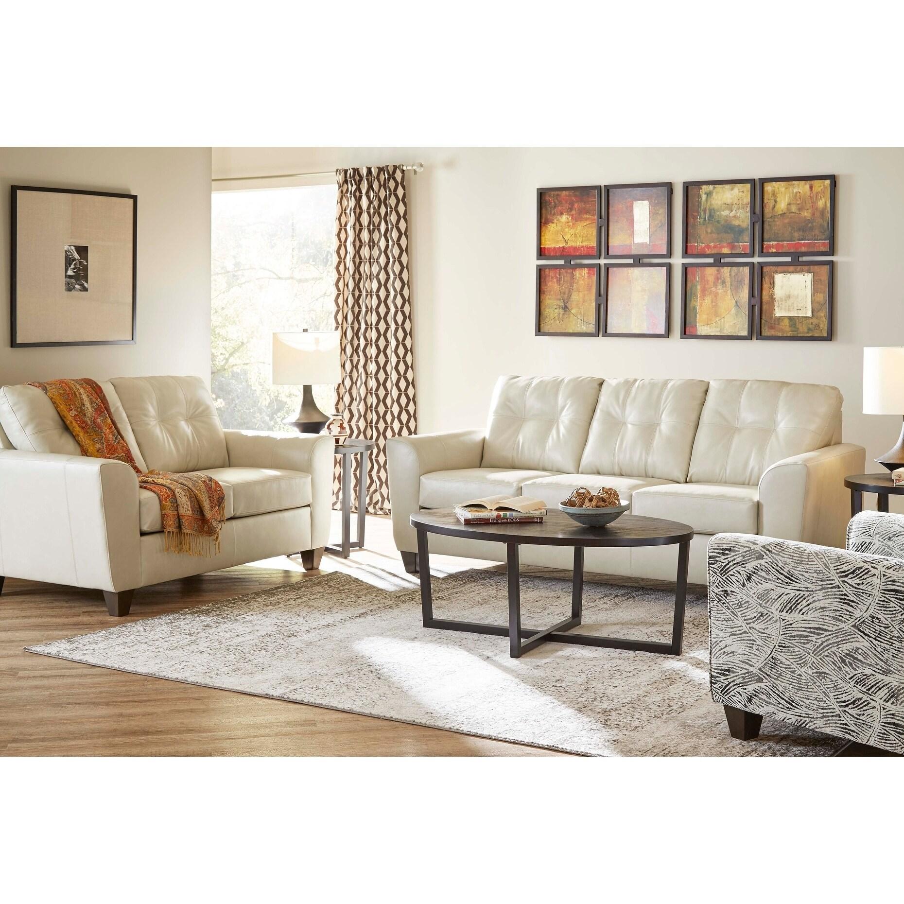 Hays Top Grain Leather Sofa and Loveseat Set