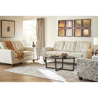 Hays Top Grain Leather Sofa and Loveseat Set