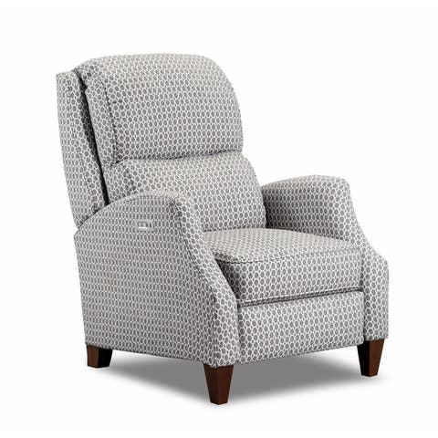 Pray Fabric Power Recliner with USB Charging Port