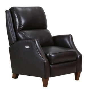 Pray Top Grain Leather Power Recliner with USB Charging Port